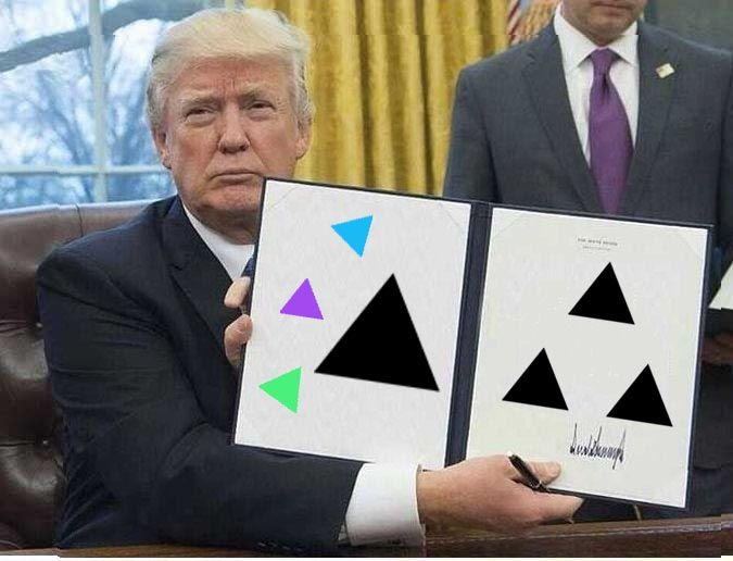 he brought us meme triangles from the future