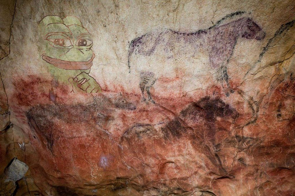 Rare Prehistoric Pepe. Experts estimate a value of 75'624'300 dollars