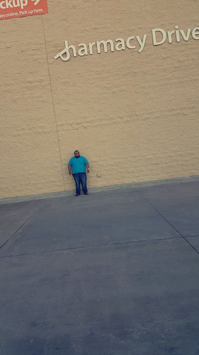 This dude on Facebook said he's been waiting 4 hours for the P to fall so he could sue Walmart