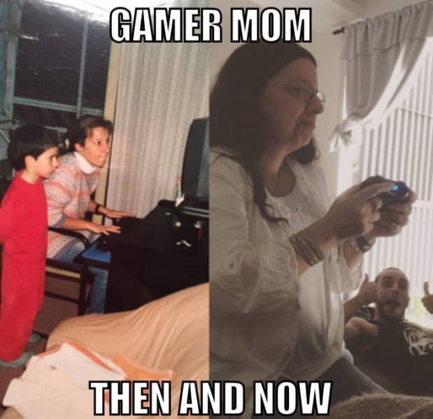 Gamer Mom: Then vs Now
