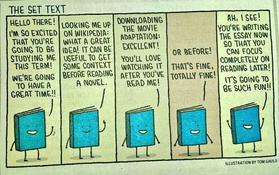 Books are always optimistic.