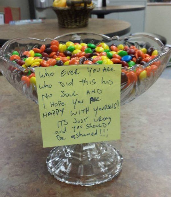 This is what you get when you mix Reese's Pieces, M&M's and Skittles. Either pure genius or pure evil.