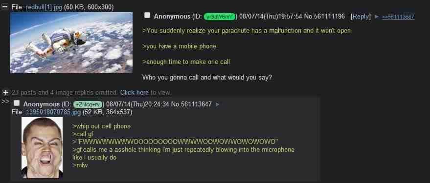 Anons parachute fails