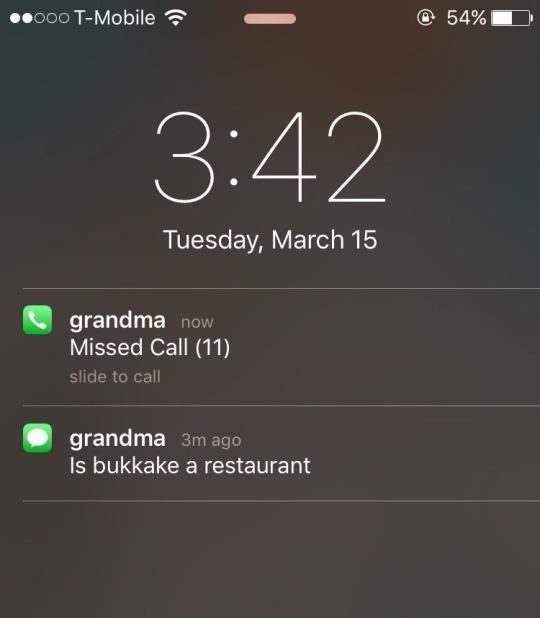 Good question, grandma