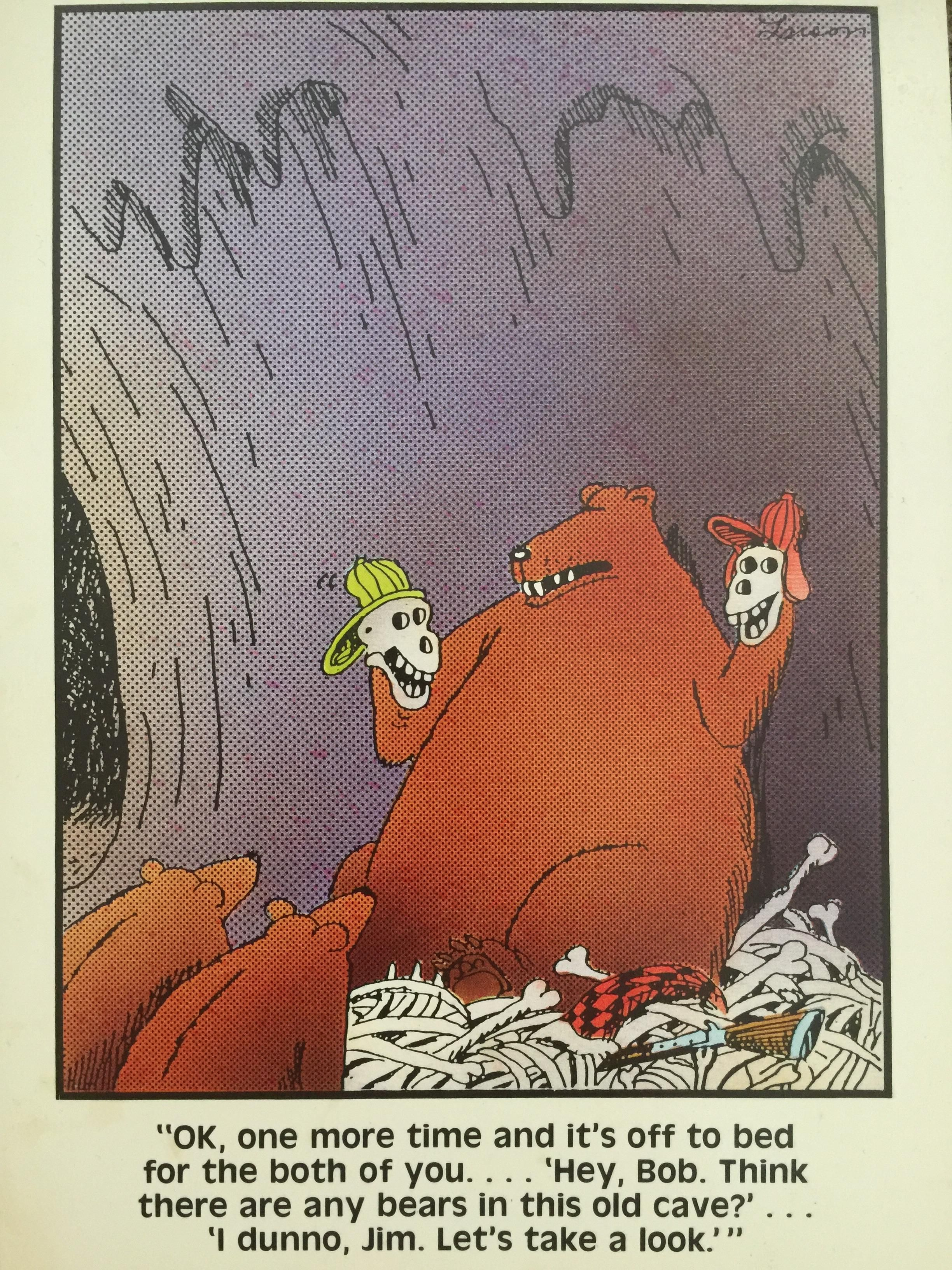 This Far Side card from 1984 I found while packing to move.