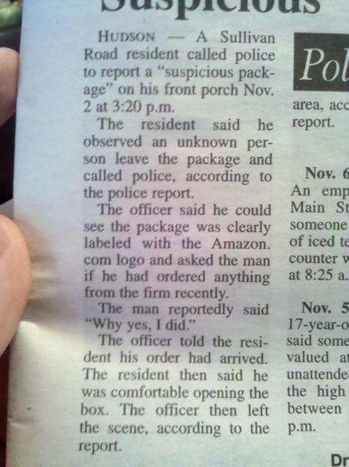 Suspicious package...