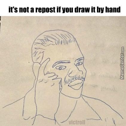 Not a repost