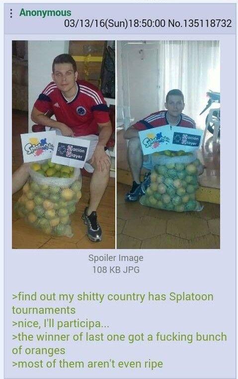 When live give u oranges stop winning at Splatoontournaments