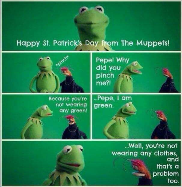St. Patrick's Day on Sesame Street.