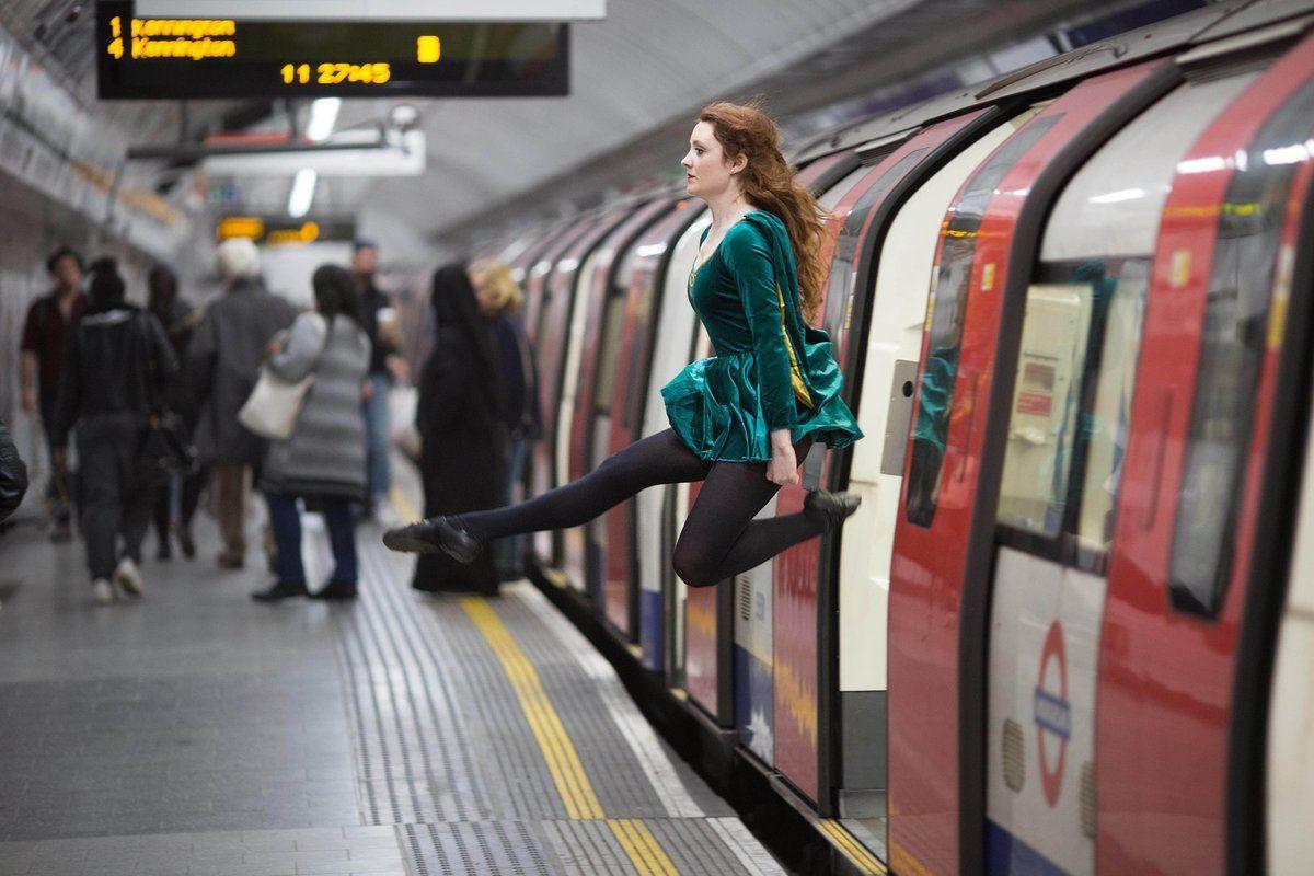 How Irish people travel in London.