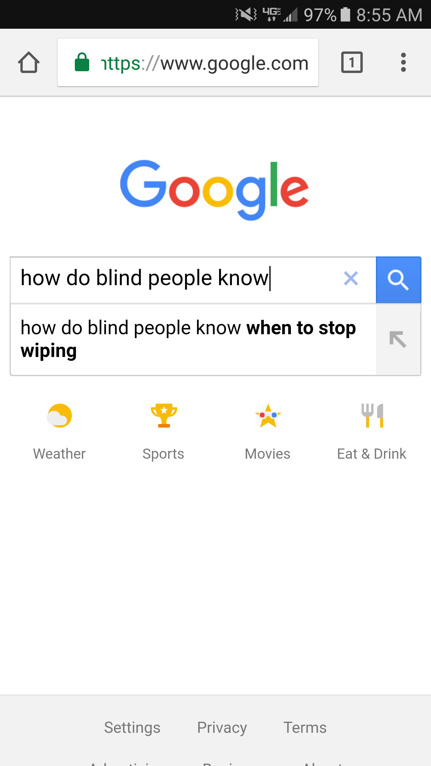 "I wanted to know ""how do blind people know what colors look like."""