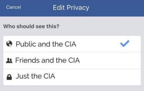 Facebook privacy be like