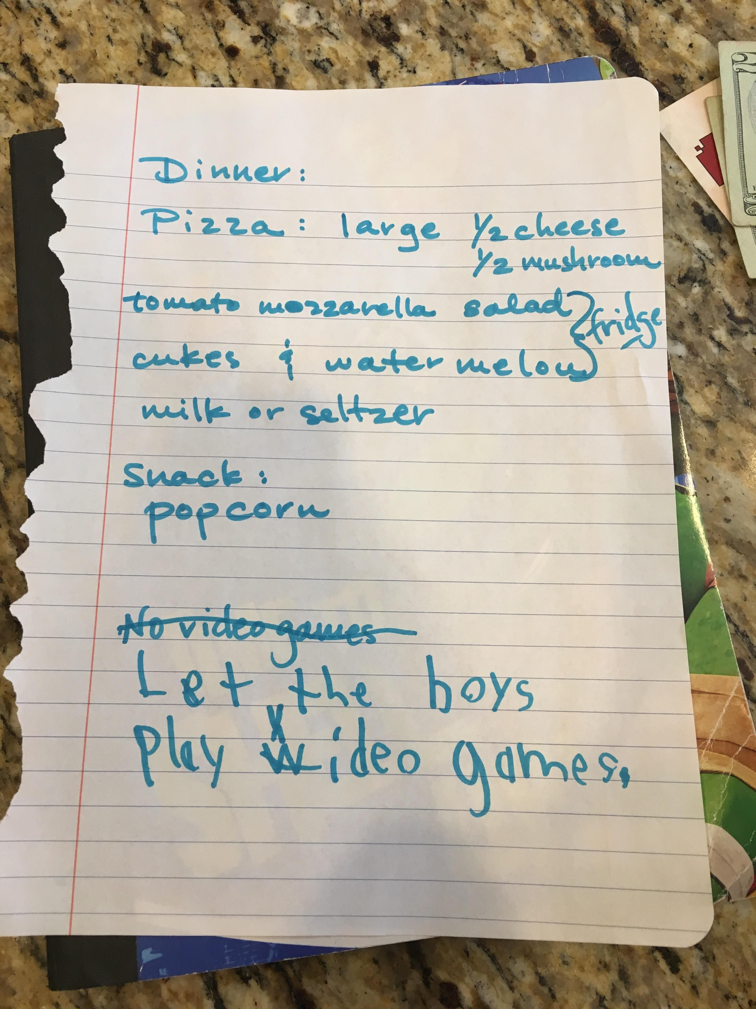 No Video Games! - My sister's 6 year old twins had different plans for when Grandma came over to babysit them.