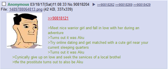/co/ on Samurai Jack's bad luck in dating (This weeks episode was gr8 imo)