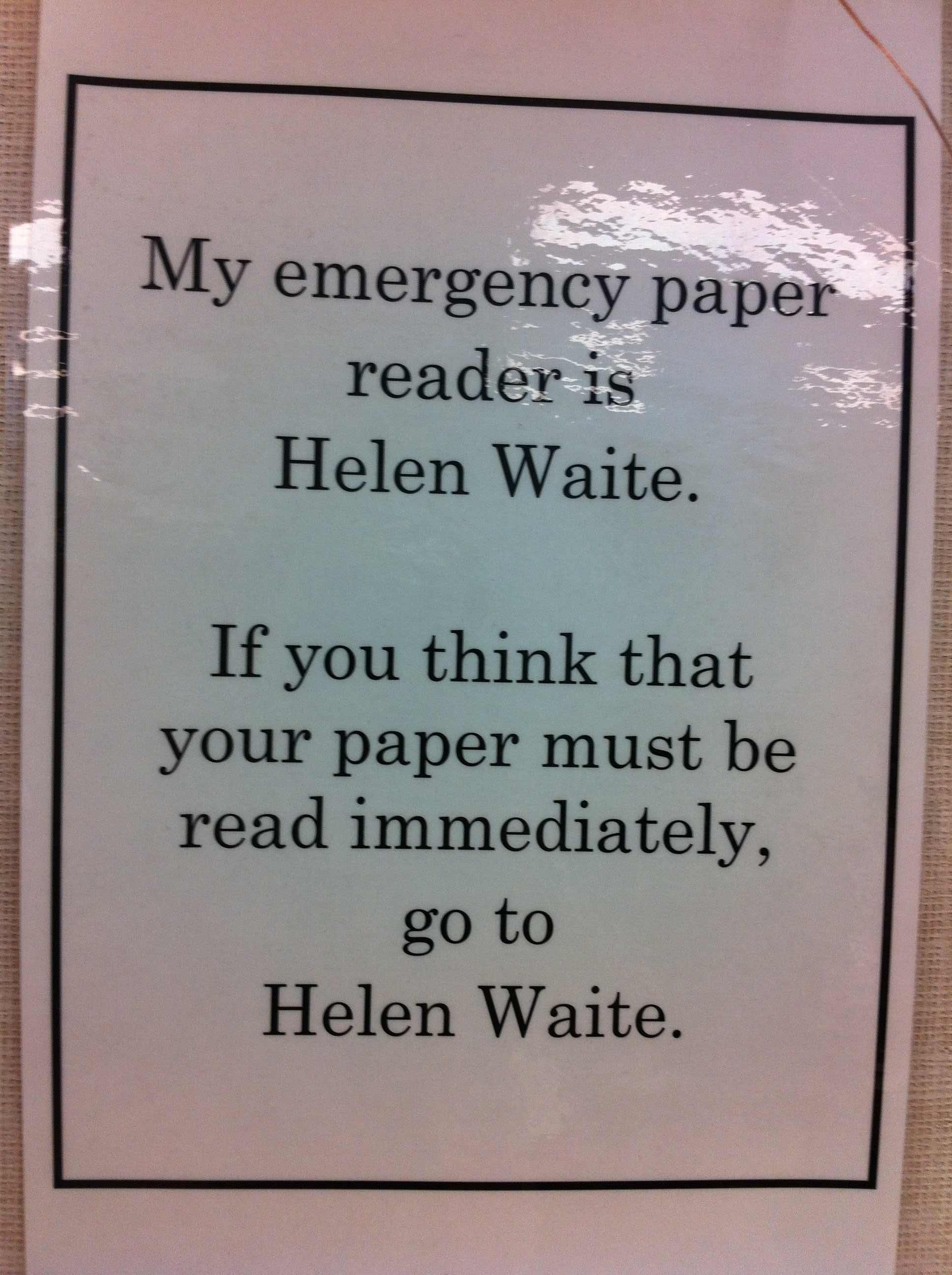 From the wall of an English Teacher