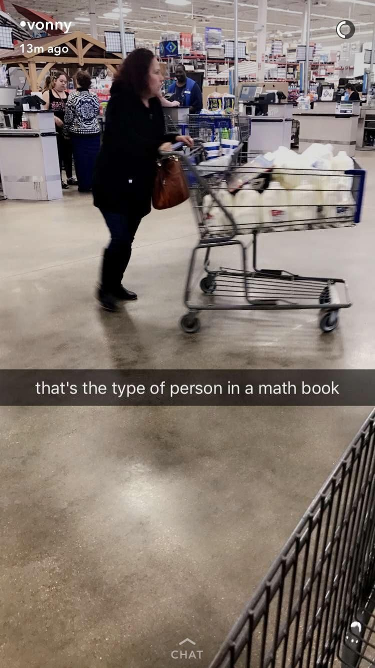 The person in math books