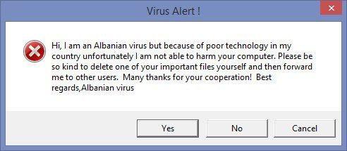 Meet Albanian Virus.