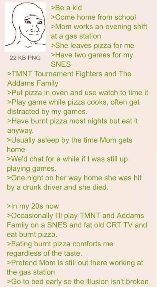 Anon likes his pizza burned