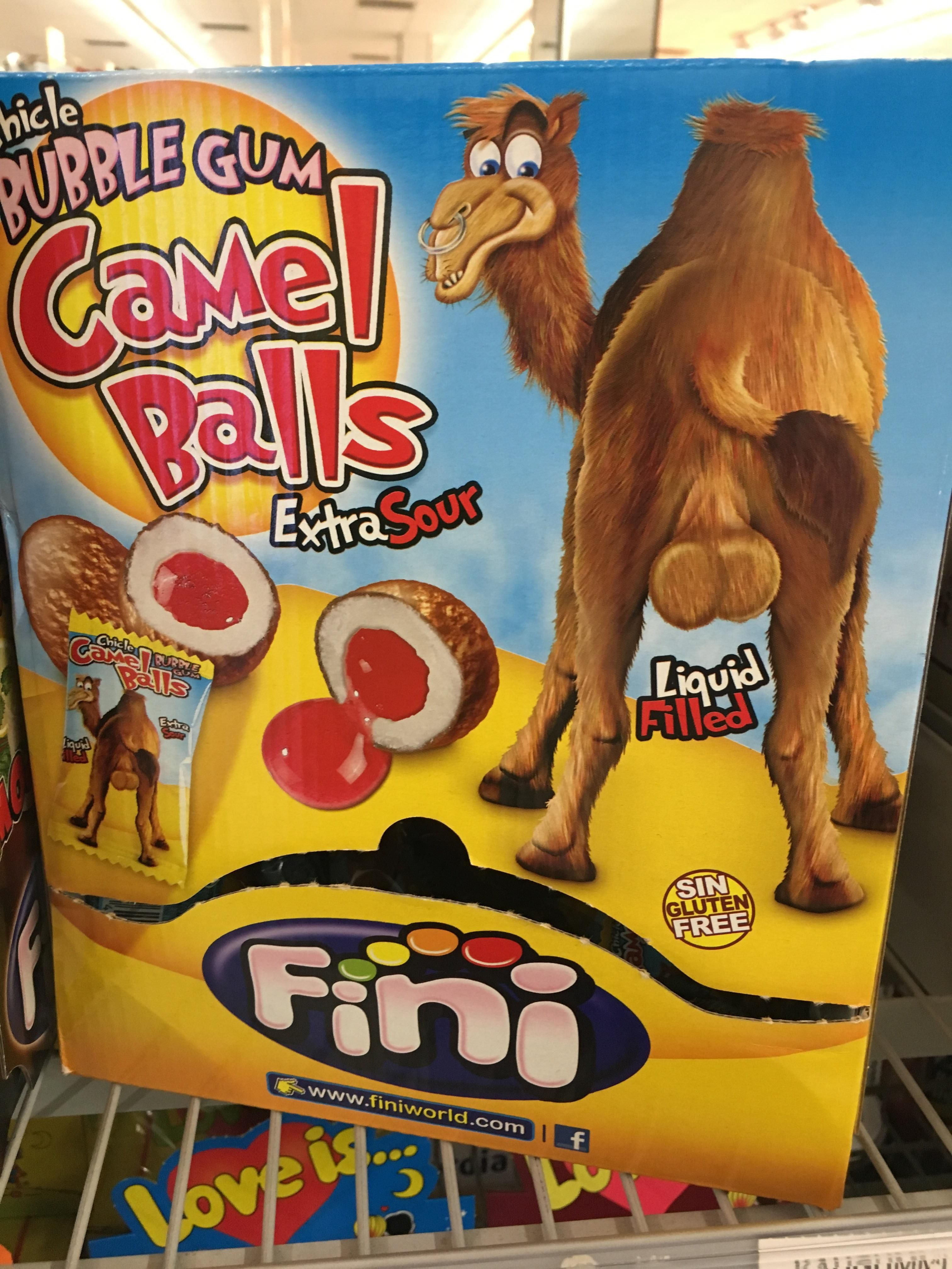 Who the hell thought it would be a good idea to market bubble gum as camel scrotums?