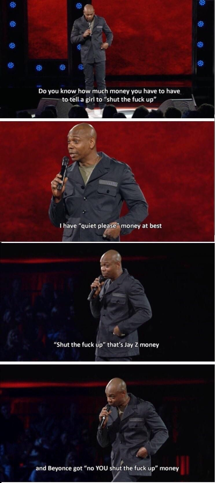 One of the gems from Dave Chappelle's Netflix special.