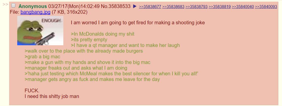 Anon makes burgers