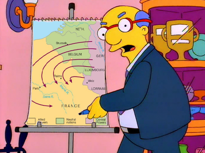 Generalfeldmarschall von Schlieffen introducing his attack plan ca. 1914 (colorized)