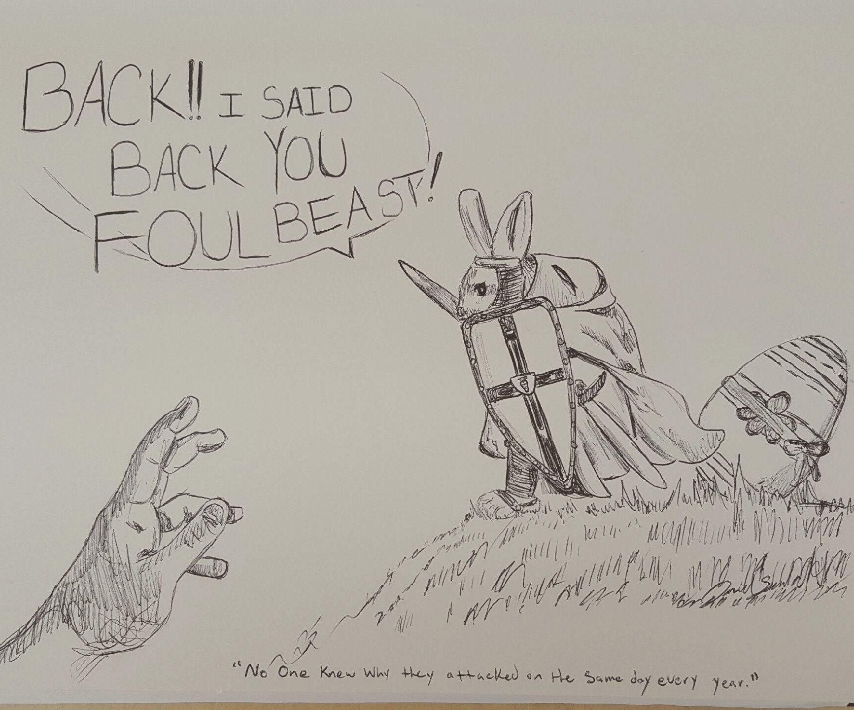 Tough times for Bunny Guardian. (OC)