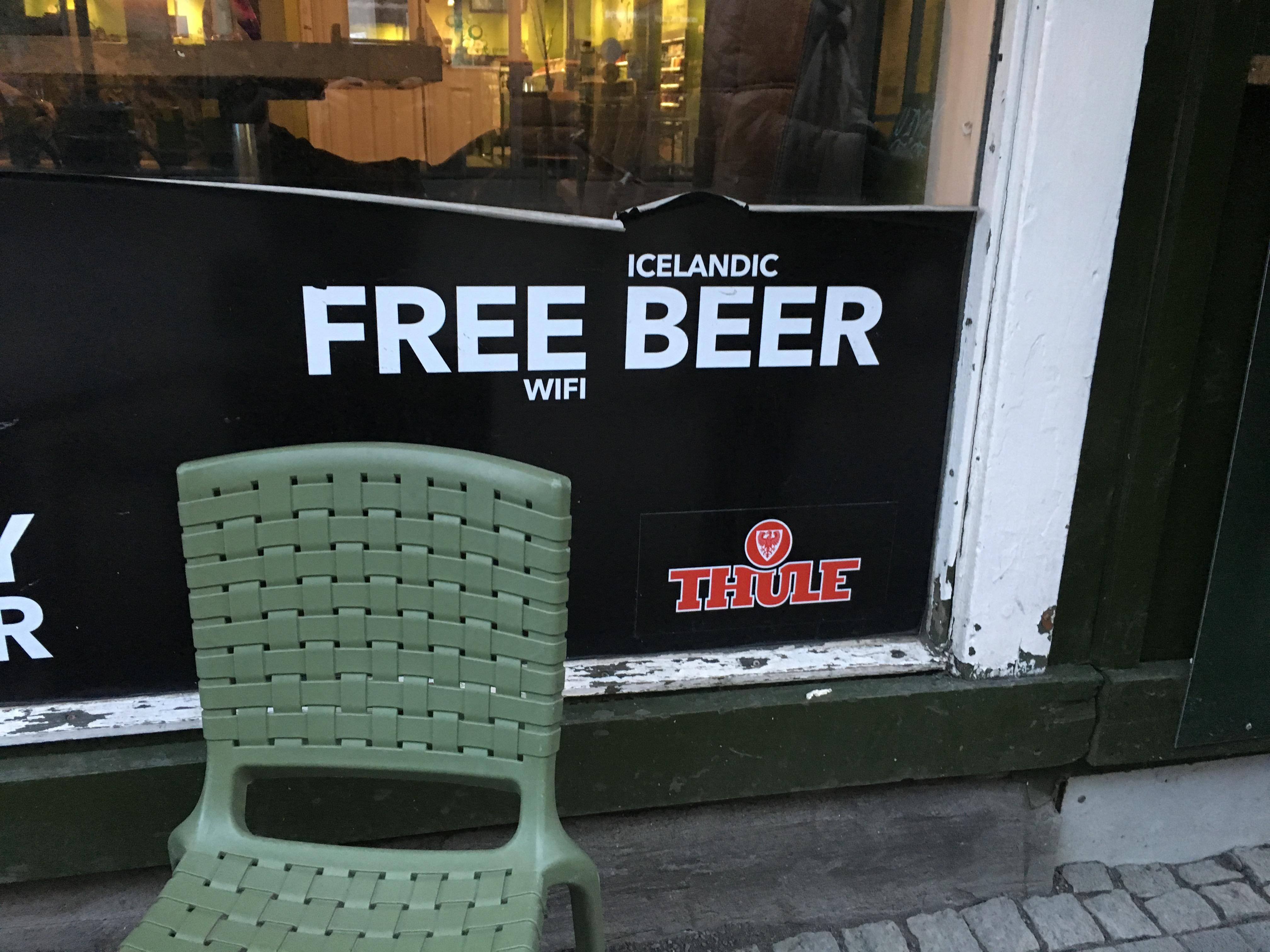 Nice try, random Icelandic bar.
