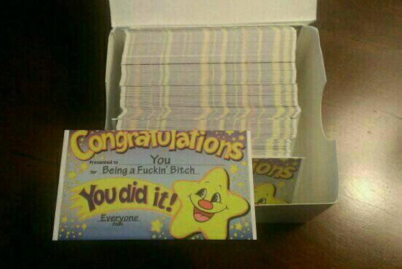 Gonna be handing these out like hell. . .