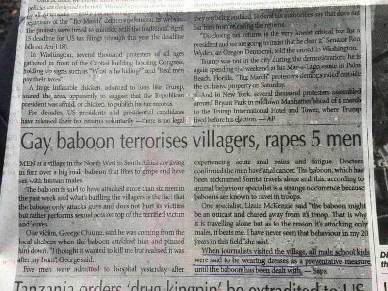 Thank God I'm not from this village!