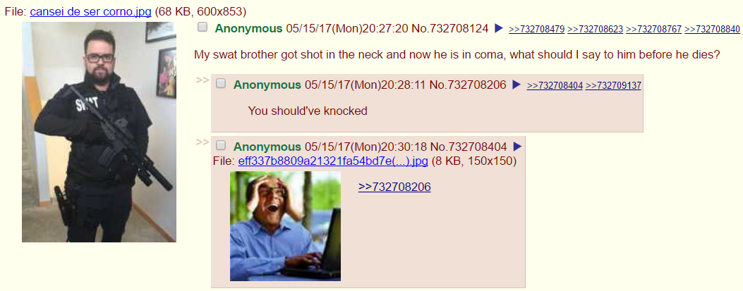 Anon gives thoughtful last words