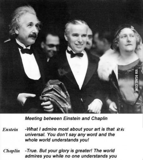 Einstein and Chaplin on each other's art.