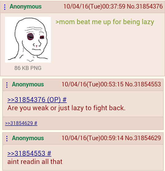 anon is lazy