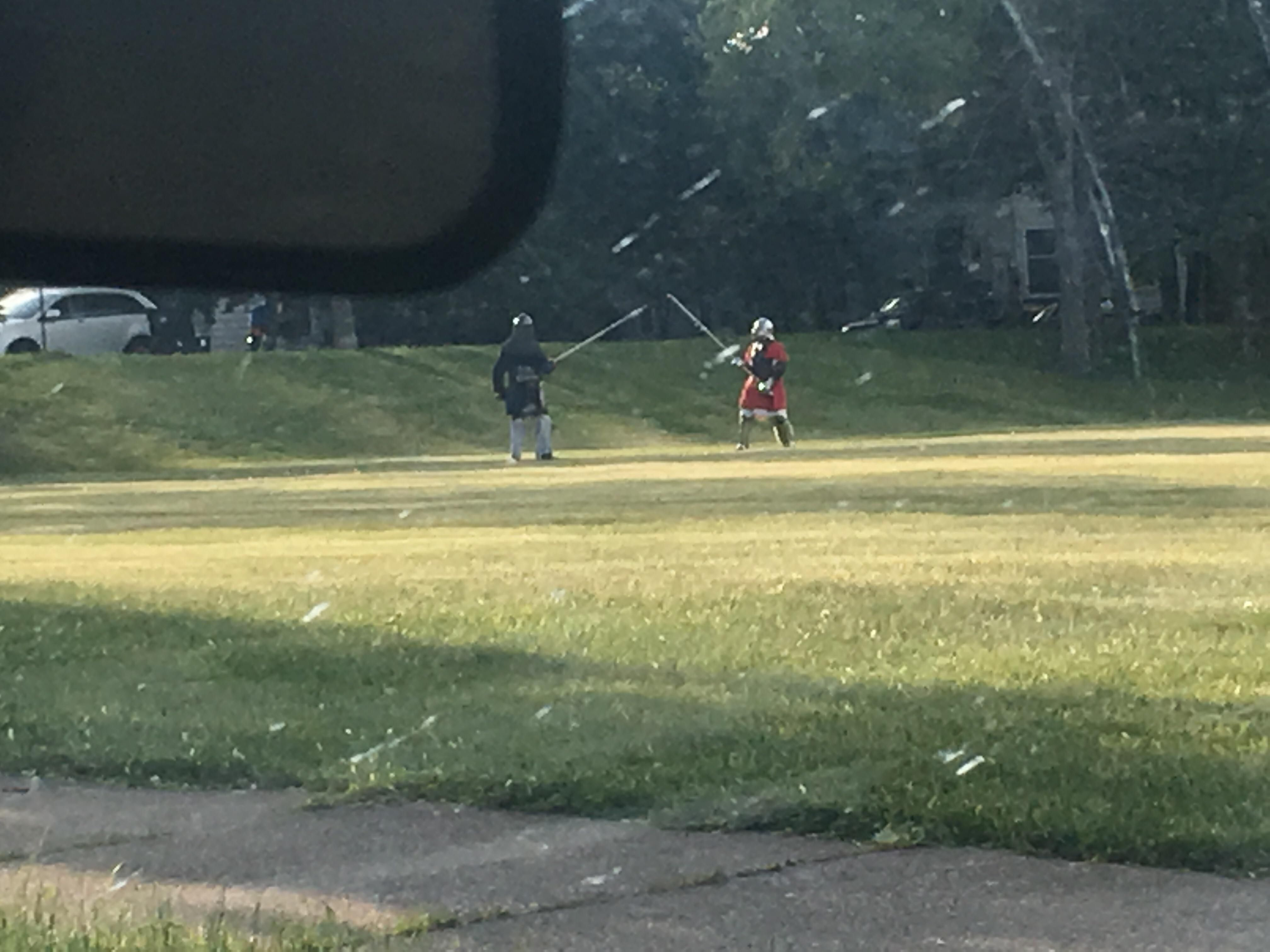 So I get home from work and these guys are doing this in the park across the street. Life is Awesome