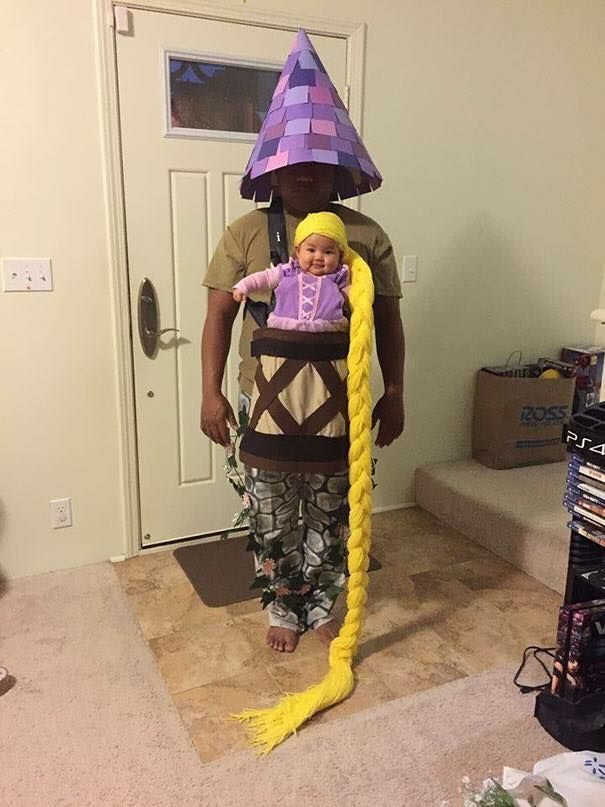 Cute father and daughter costume