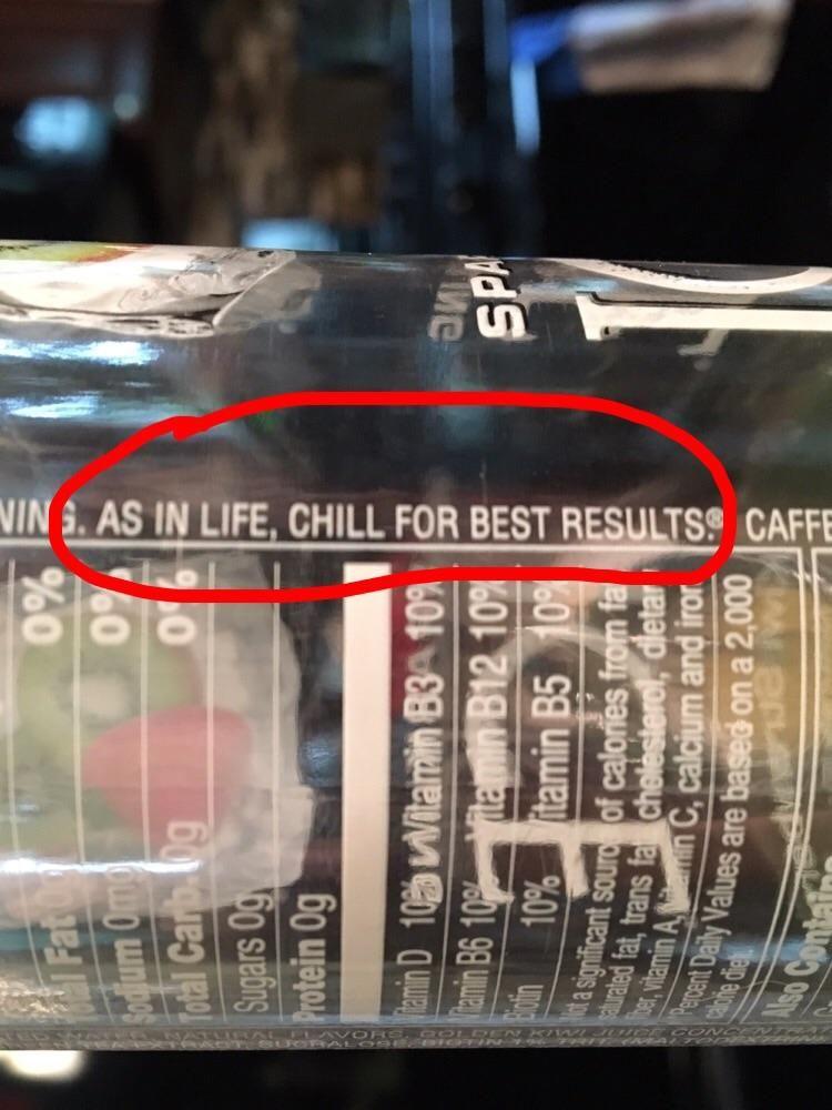 I like my life like I drink my Sparkling Ice...