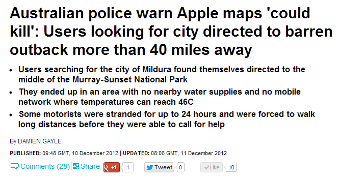 "Apple: ""LoL, are people still using our maps? Oops my bad"""