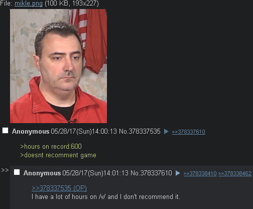/v/ would not recommend itself