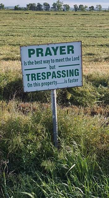 Message unclear: is God in the house or barn?