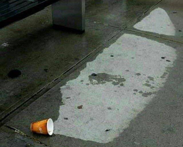 Someone spilled his air