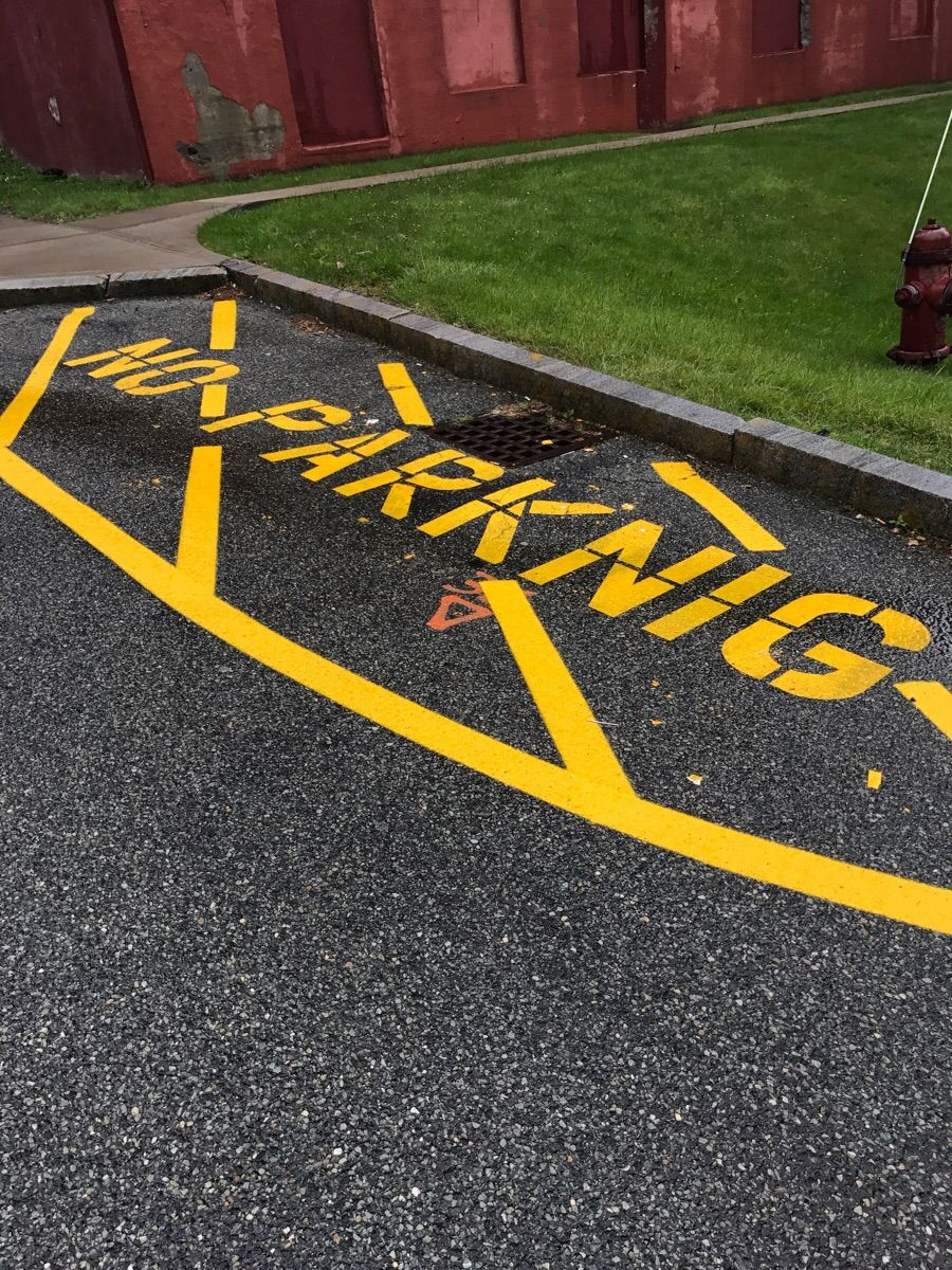 They repainted the lines in the back lot of our high school this weekend. Maybe we should invite them to sit in on a few classes.