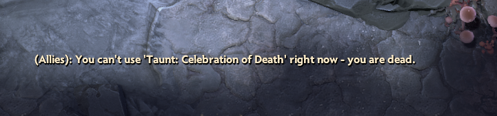 When you finally achieve your life goal of dying, but you can't celebrate.