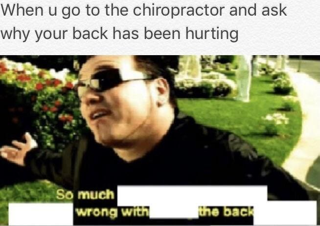 Its pain from behind Doc
