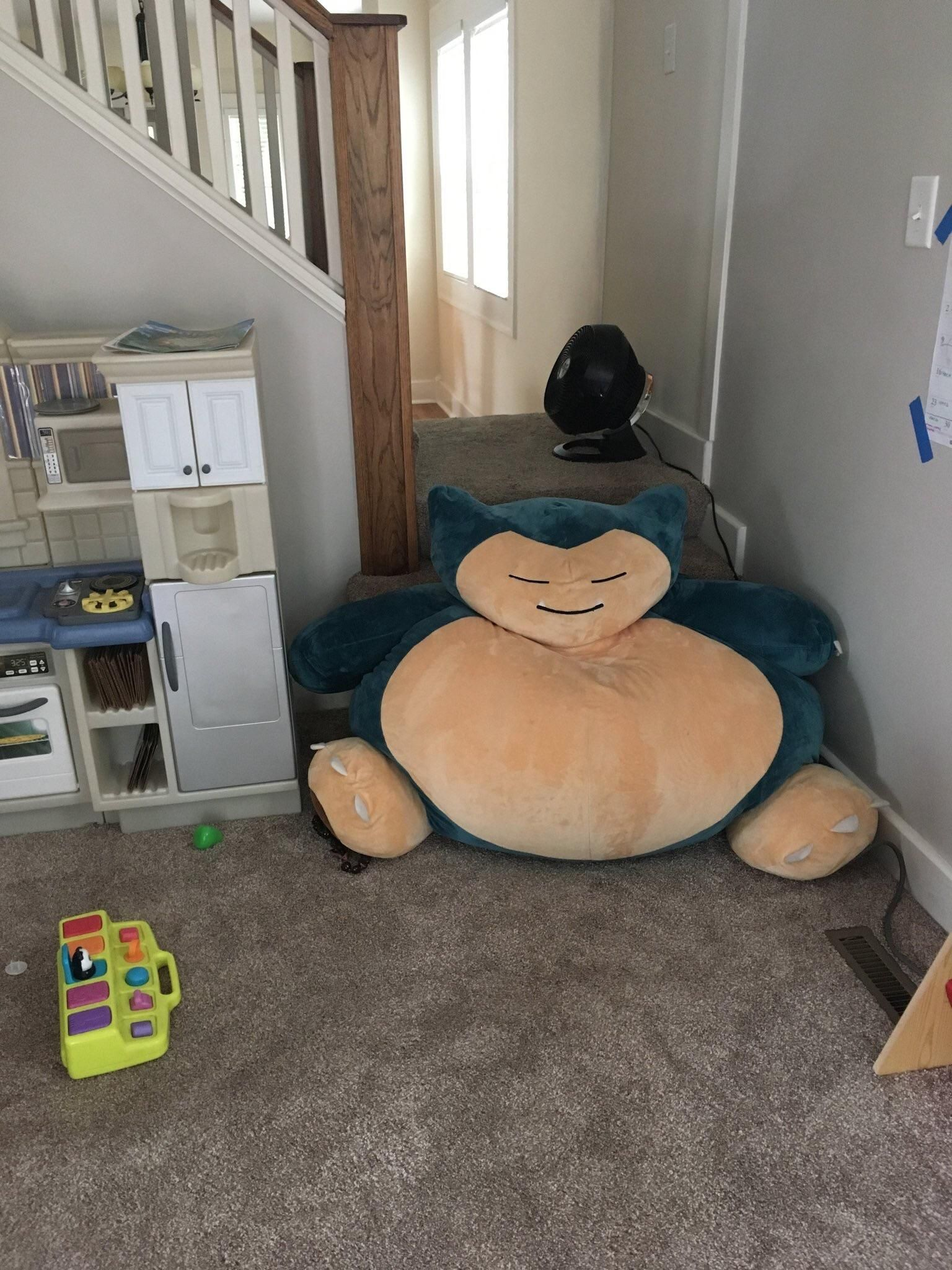 At my house we use snorlax as a baby gate. Let's just hope the baby never finds the Pokéflute