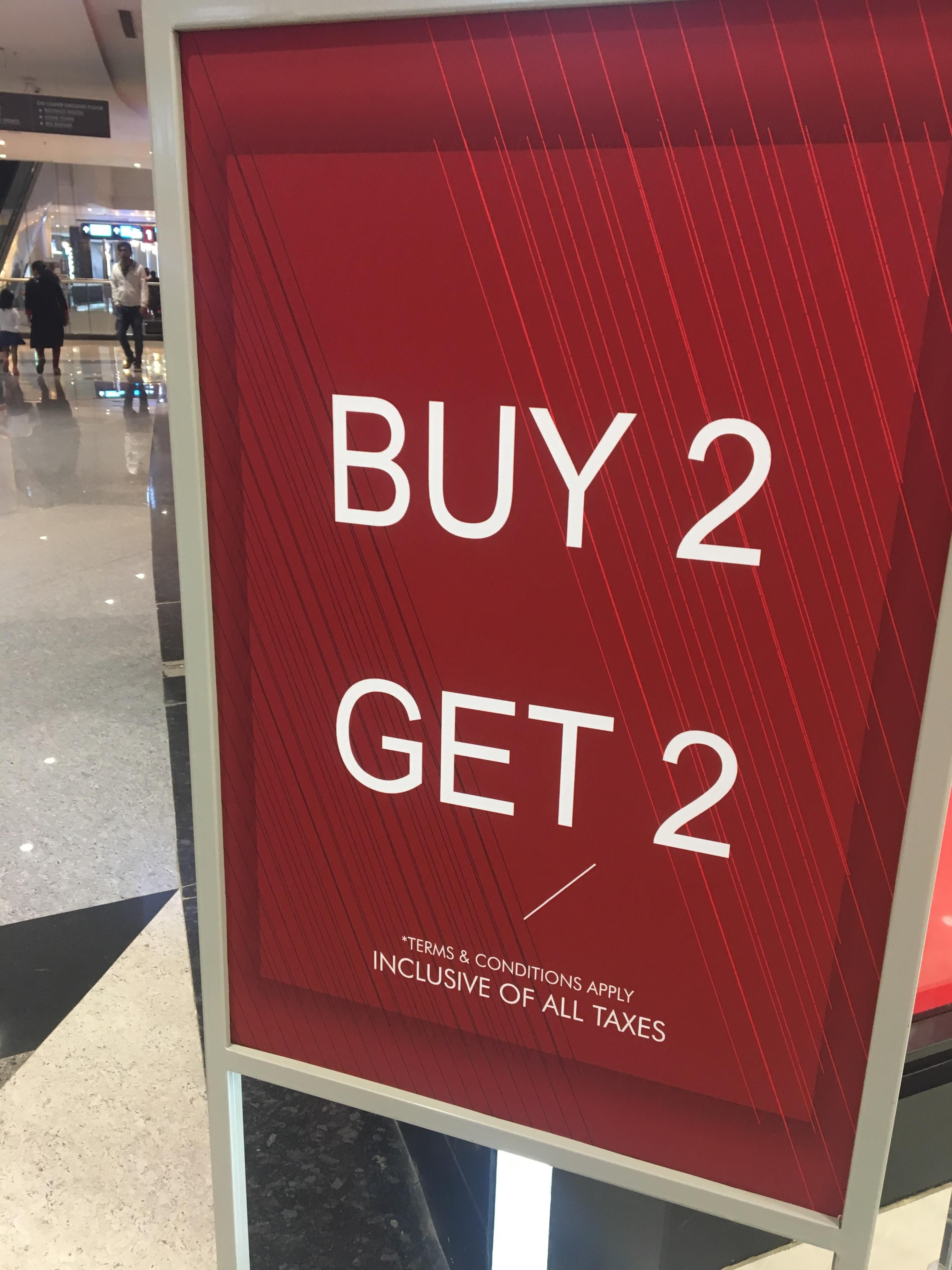 I thought buy 2 get 2 is normal!