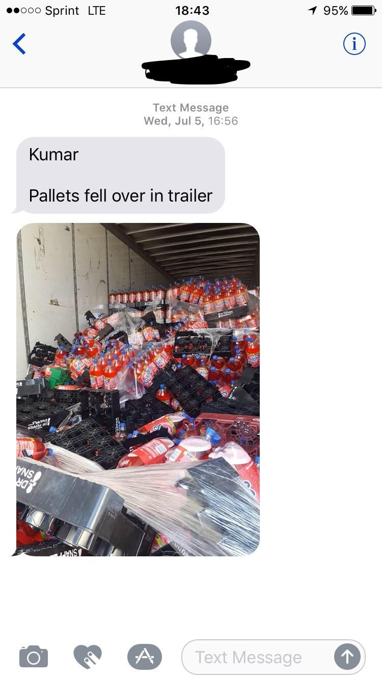 Just got this random text from someone I don't even know. Kumar, if you're seeing this get your act together.