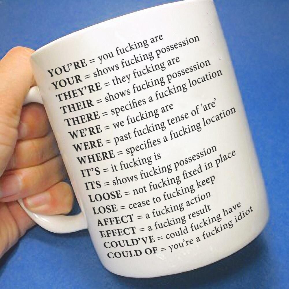 The mug for grammatically inept people