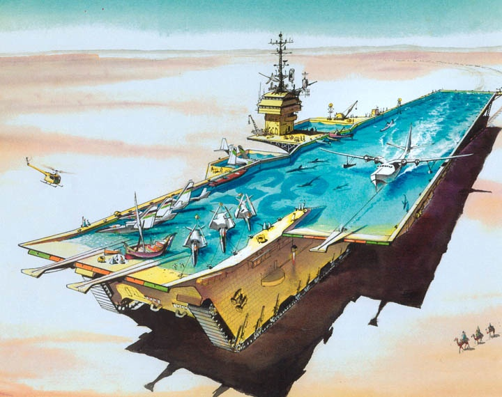 Desert Water Aircraft Carrier