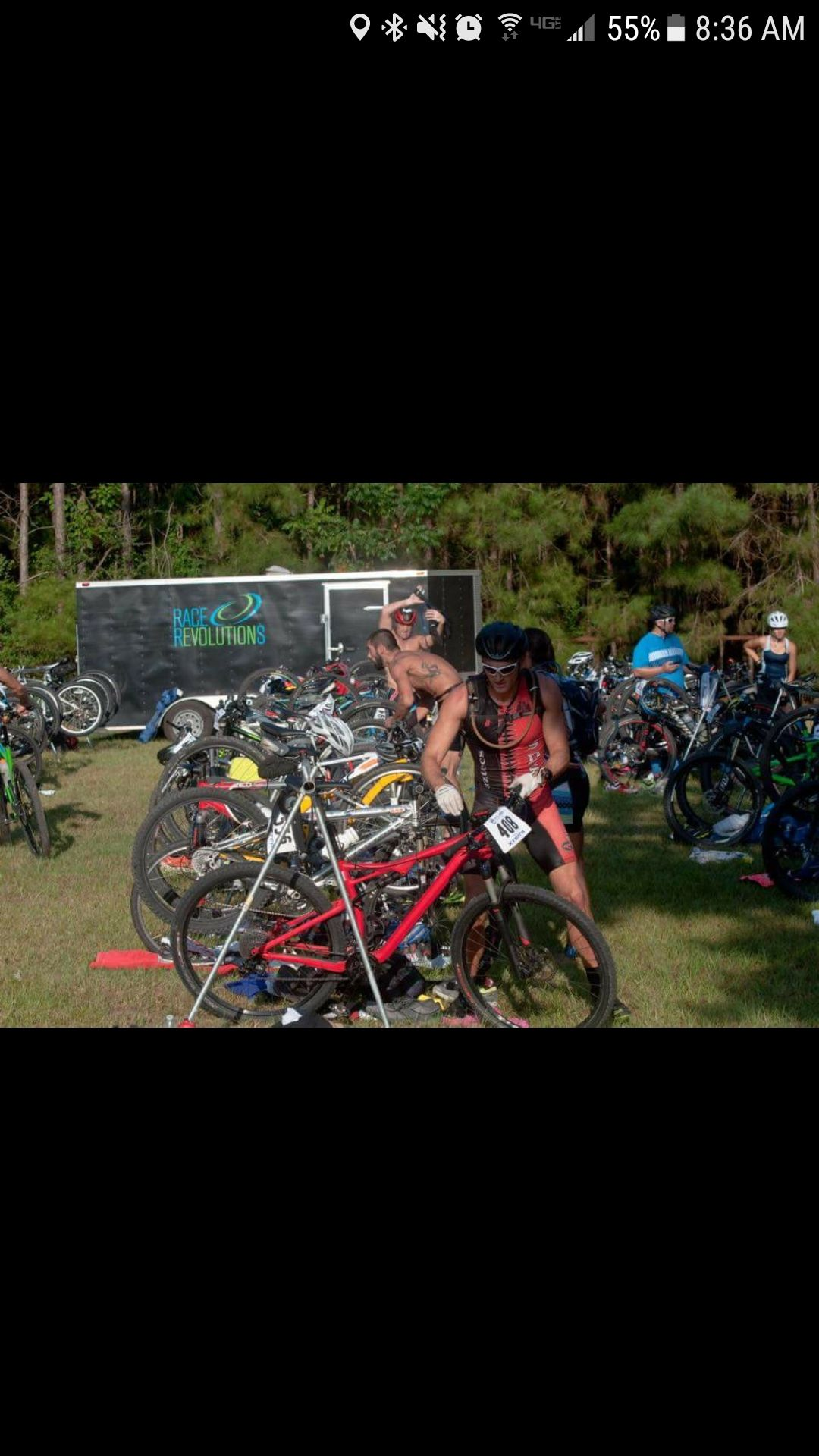 I had to do a double take when scrolling through local Triathlon photos.