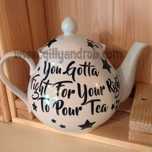 I make custom teapots. This one sold 5 minutes after it was done. :)